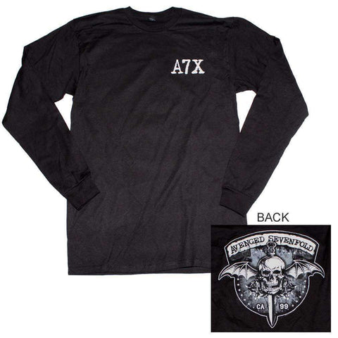 Men's T-Shirts - Avenged Sevenfold Biker Bat Long Sleeve T-Shirt