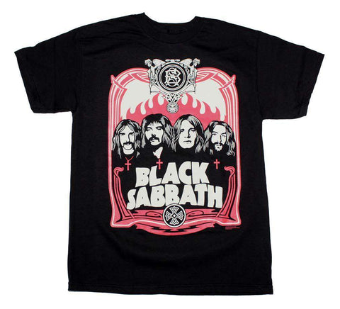 Men's T-Shirts - Black Sabbath Red Flames T-Shirt