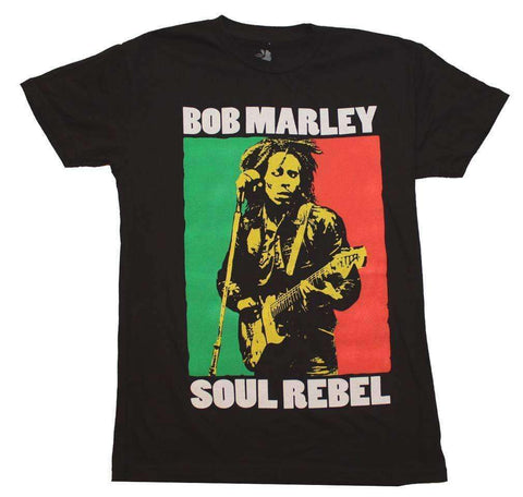 Men's T-Shirts - Bob Marley Soul Rebel Color Block T-Shirt