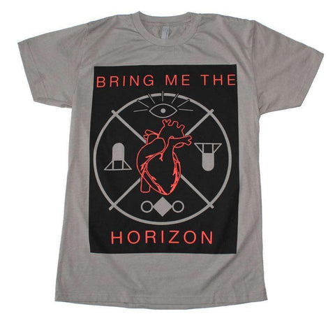 Men's T-Shirts - Bring Me The Horizon Heart And Symbols T-Shirt