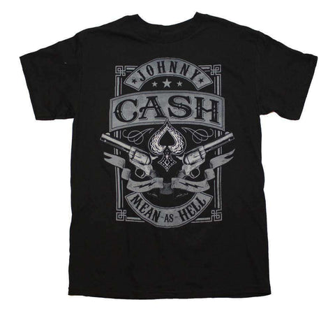 Men's T-Shirts - Johnny Cash Mean As Hell T-Shirt