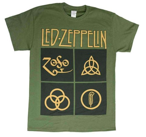 Men's T-Shirts - Led Zeppelin Black Box Symbols T-Shirt