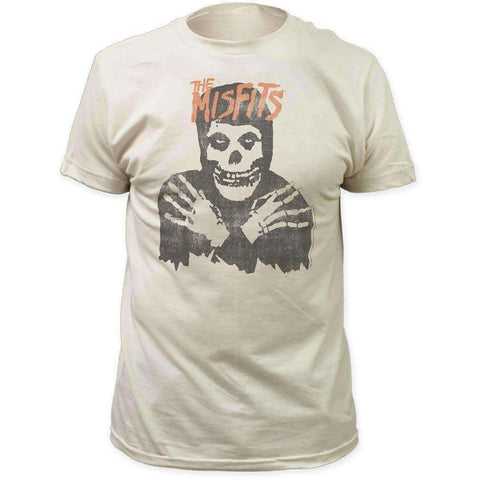 Men's T-Shirts - Misfits Classic Skull Distressed Print T-Shirt