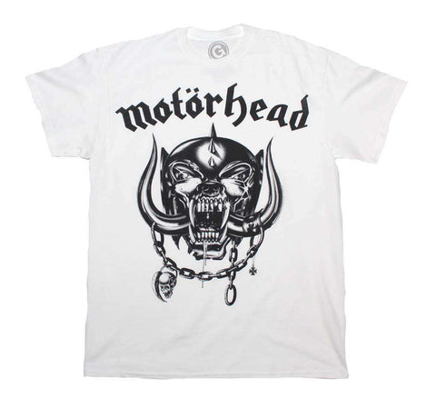 Men's T-Shirts - Motorhead Flat War Pig White T-Shirt