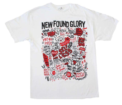 Men's T-Shirts - New Found Glory Hits T-Shirt