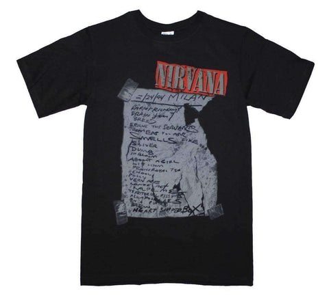Men's T-Shirts - Nirvana Milan Set List T-Shirt