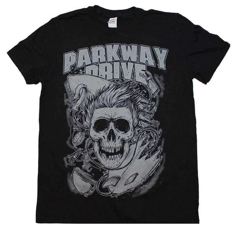 Men's T-Shirts - Parkway Drive Surfer Skull T-Shirt