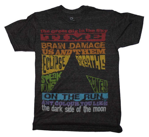 Men's T-Shirts - Pink Floyd Dark Side Tracks Triblend T-Shirt