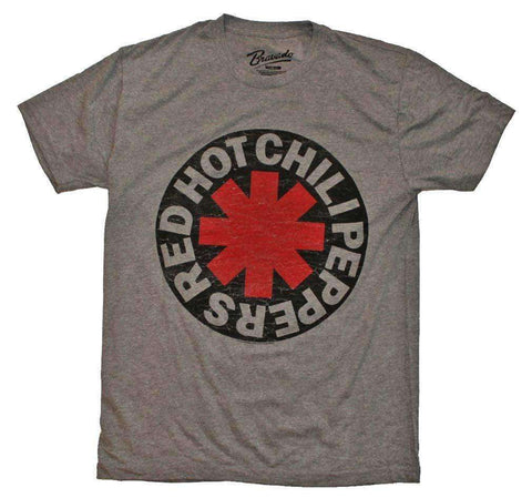 Men's T-Shirts - Red Hot Chili Peppers Asterisk Circle T-Shirt