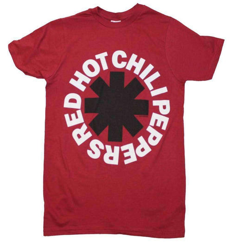 Men's T-Shirts - Red Hot Chili Peppers Black Asterisk Red T-Shirt