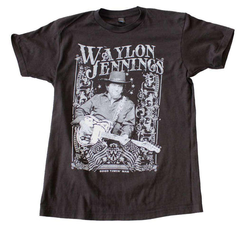 Men's T-Shirts - Waylon Jennings Portrait T-Shirt
