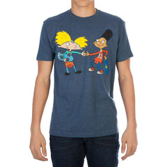 Image of Nickelodeon Hey Arnold! Fist bump Men's Navy Tee Shirt