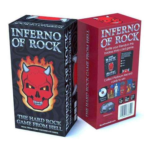 Playing Cards - Inferno Of Rock Heavy Metal Trivia Game