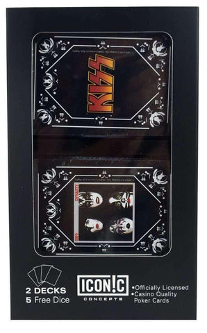 Playing Cards - KISS Dual Pack Playing Cards And Dice (2 Pack)