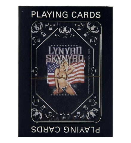 Playing Cards - Lynyrd Skynyrd Girl With Flag Playing Cards