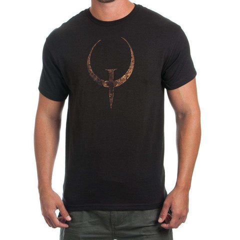 Quake Emblem Black T-Shirt