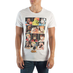 Image of Street Fighter Character Grid T-Shirt
