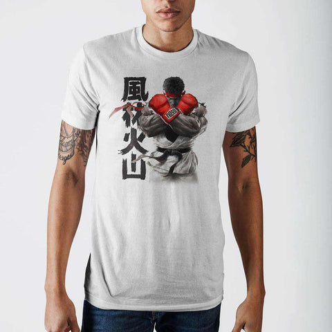 Street Fighter Ryu White T-Shirt