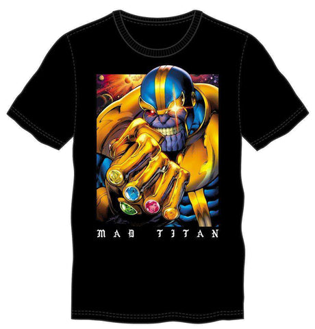 Thanos The Mad Titan Men's Black T-Shirt Tee Shirt
