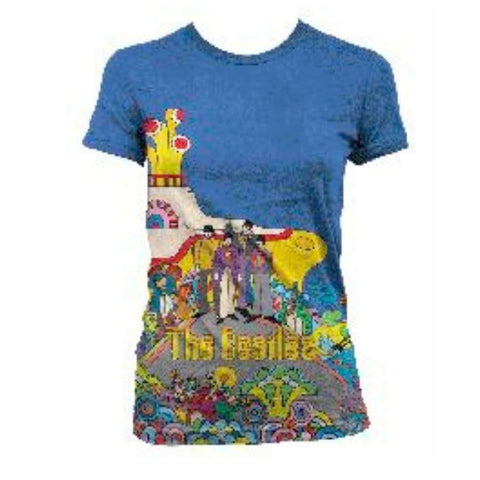 The Beatles Yellow Submarine - Mens White Sublimated T-Shirt