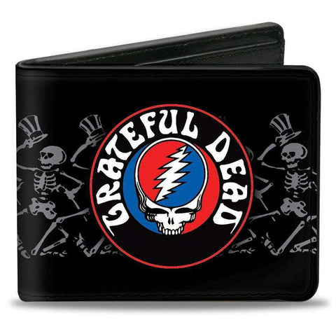 Wallet - Grateful Dead Steal Your Face Skeleton Bifold Wallet