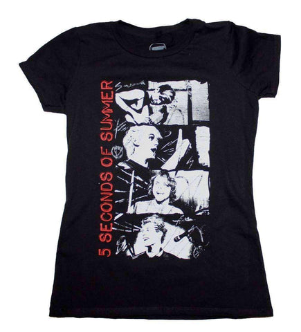 Women's T-Shirts - 5 Seconds Of Summer Stacked Photo Junior's T-Shirt