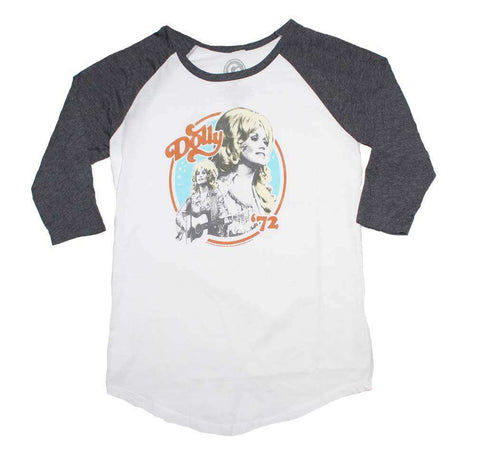 Women's T-Shirts - Dolly Parton Dolly 72 Juniors Raglan Sleeve Tee