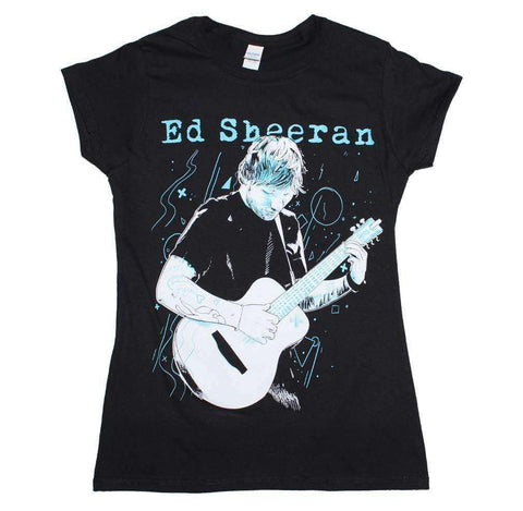 Women's T-Shirts - Ed Sheeran Guitar Juniors T-Shirt