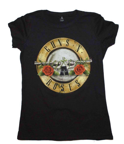 Women's T-Shirts - Guns N Roses Distressed Bullet Juniors T-Shirt