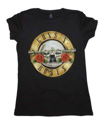 Image of Guns n Roses Distressed Bullet Juniors T-Shirt