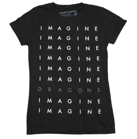Women's T-Shirts - Imagine Dragons Stacked Logo Juniors T-Shirt