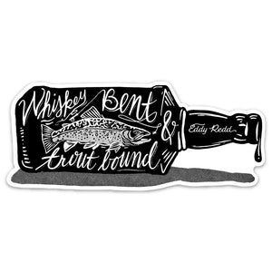 Whiskey Bent Trout Bound Sticker