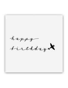 Happy Birthday Plane Card