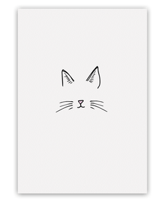 Cat Face Card