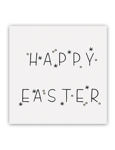 Happy Easter Flowers Card