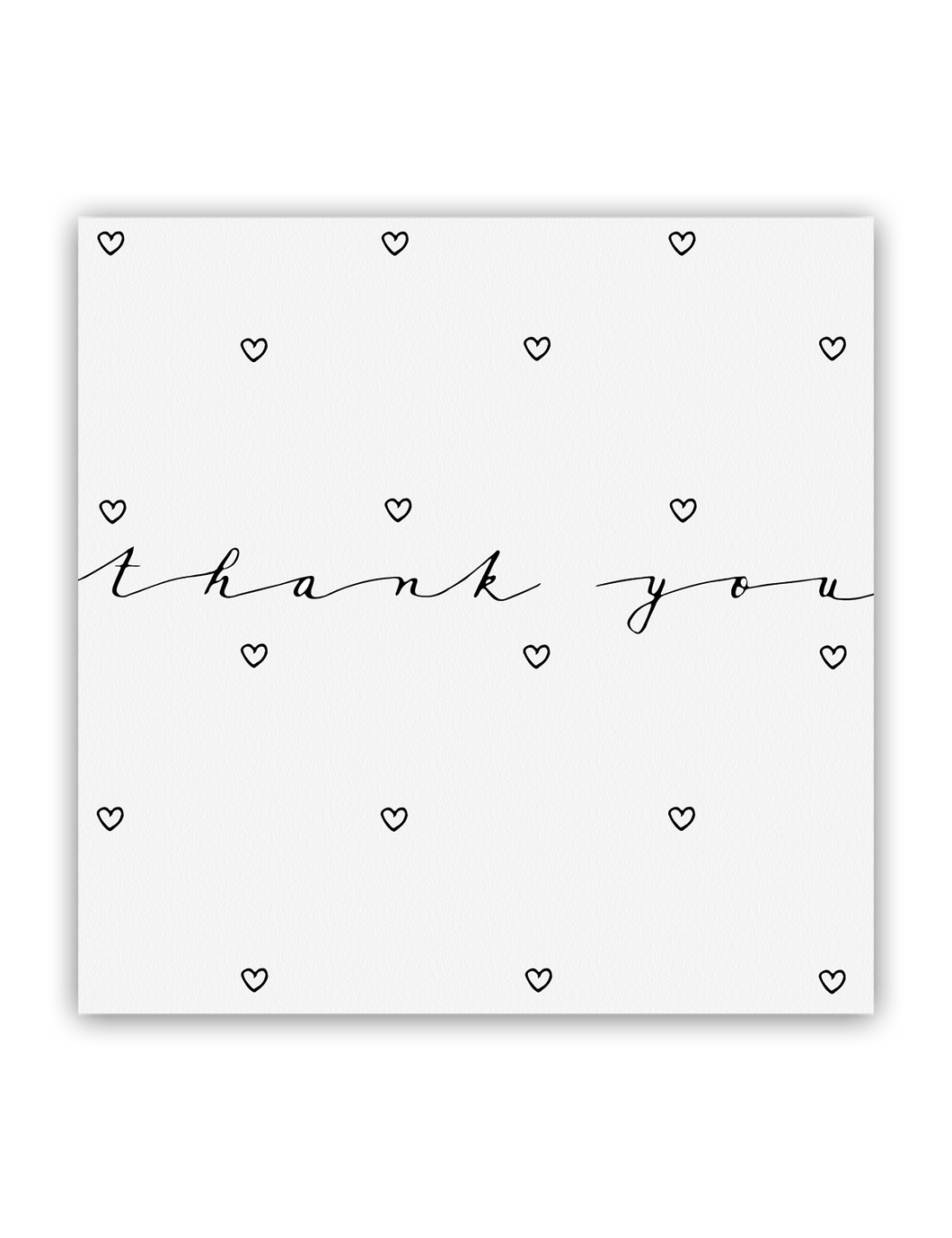 Thank You Hearts Card