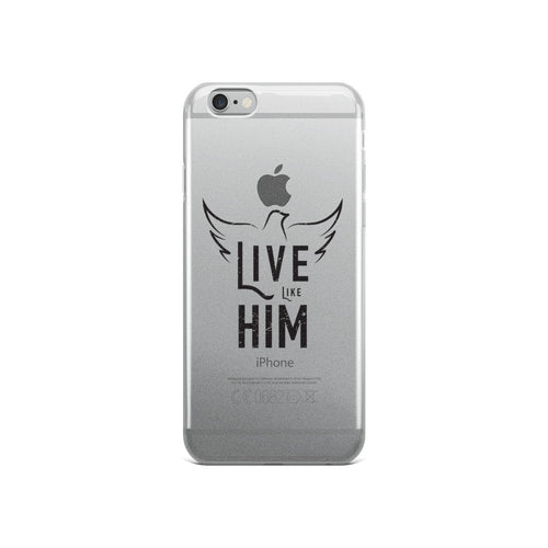 Live Like Him Clear Shockproof iPhone Case