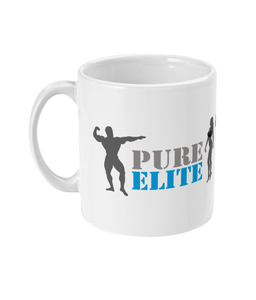 11oz Mug Pure Elite Logo with Dark Grey Figures