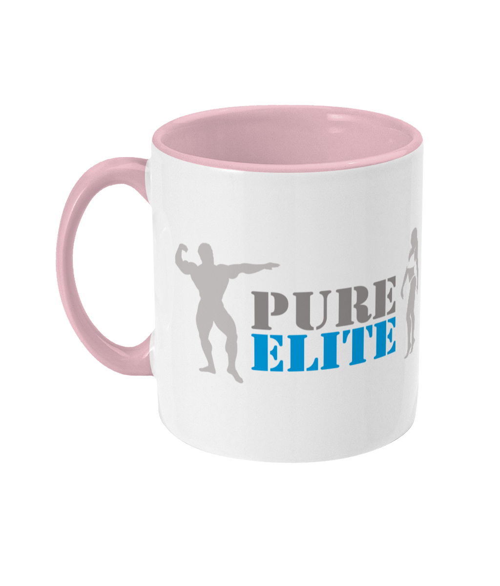 Two Toned Mug Pure Elite Logo with Light Grey Figures