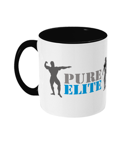 Two Toned Mug Pure Elite Logo with Dark Grey Figures