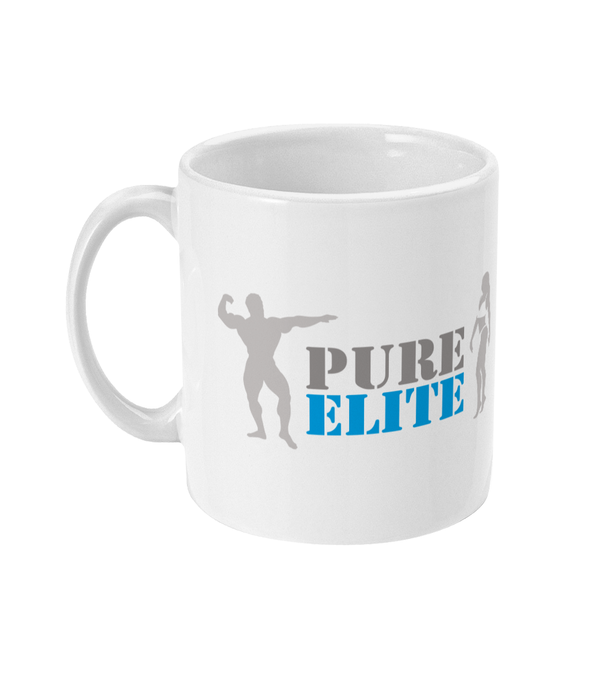 11oz Mug Pure Elite Logo 2019 with Light Grey Figures
