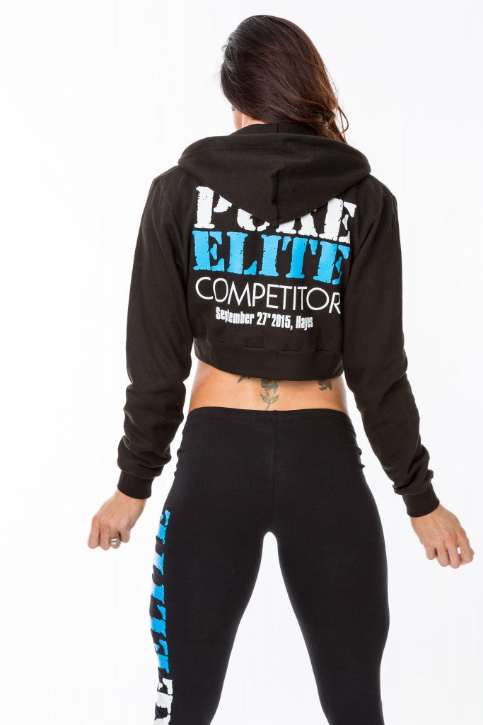 Show Date Zip-Up Cropped Hoodie