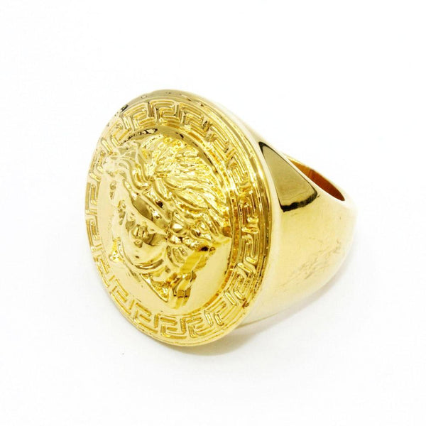 Oversized Versace Medusa Ring