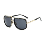 Big Frame Square Sunglasses Gold Trim