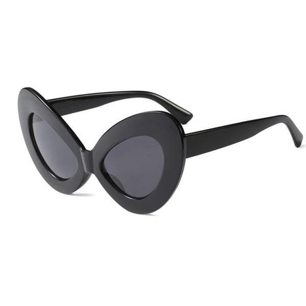 Big Frame Unique Cat Eye Sunglasses