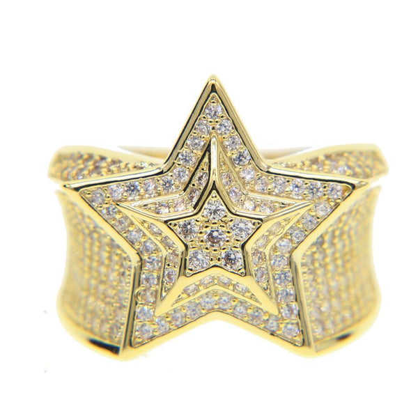 Iced Out Hip-Hop Star Ring