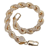 Bust Down Diamond Rope Bracelet