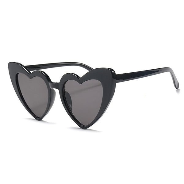 Vintage Heart Cat Eye Retro Sunglasses