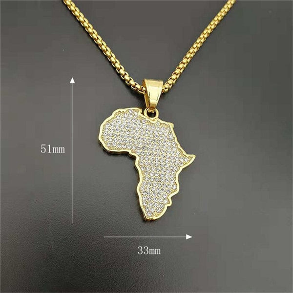 Iced Out Africa Necklace