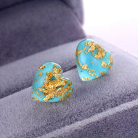 Puffed Marine Iced Out Earrings